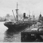 MATARAM, 1909- 1934.leaves Sydney Cove. SHF Coll.