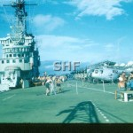MELBOURNE HMAS, tropical Saturday 1958,note Sycamore helo_GK