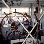 MELBOURNE PS. wheelhouse view. 1989