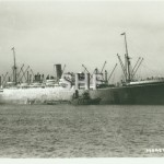 MORETON BAY, 1921-1957. with tug.SHF Coll.