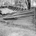 Moama, NSW, old barge,1988. Neg 993-10.