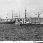 NELSON, ORLANDO and RAPID HMSs Australia Station. SHF Coll.