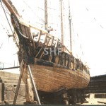 NEW ENDEAVOUR 1919, in Rileys Hill Dock, 1987. SHF Coll.