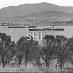 ORLANDO HMS, (1888-1905) in Hobart with P class cruiser c.18