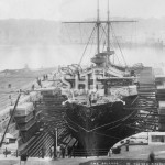 ORLANDO HMS, in Sutherland Dock c. 1890 ( note Spectacle Is