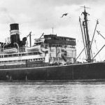 ORMISTON 1922, ex FAMAKA, 1957, at Brisbane. SHF Coll.