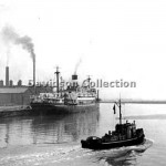 ORMISTON with MHT US type tug. Oct 29,1954. File 4.