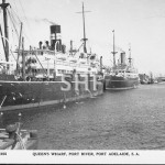 ORUNGAL (left) 1923-1940, with WESTRALIA in Port Adelaide. p