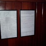 Original survey docs in sail locker