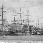 PARRAMATTA 1866, (centre)with PS tugs PRINCE ALFRED & GOOLW
