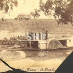 PIONEER PS 1870-1939 with RAKIA barge 1869 on Darling R. SHF