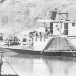 Paddlesteamers at Bourke, one under repair, c.1880-1894. SHF