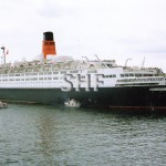 QUEEN ELIZABETH 2, 1968, after re-engining. SHF Coll.