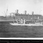 QUEEN MARY 1936-1971 at Fremantle, 1940 with HMAS BONTHORPE.
