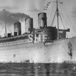 QUEEN MARY 1936-1971, inbound Sydney 1943 with 9th Div. (1)
