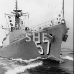 QUEENBOROUGH HMAS, 1942-1972, outbound June 1971.SHF Coll.