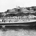 RAAF 45ft.fuel barge, trials Berrys Bay, c. 1944. (1)