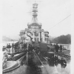 REPULSE HMS, visitors day, rainy, c. 1924. tiny print. SHF C