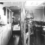 REVONAH 1908, Albert motor launch, galley and engine room,SH