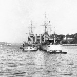 STALWART HMAS, H14 with HMAS ANZAC in Farm Cove, c. 1925.