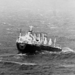 STAR KERRY, in big seas off North Head, 1975. SHF Coll.
