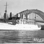 STRATHAIRD 1932-1961, in Sydney Cove, postcard. SHF Coll.