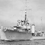 STUART HMAS, 1918- 46. Aug 13,1929. passes ALBATROSS. SHF Co