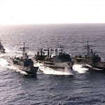 SUCCESS HMAS, with escorts, April 1994_RAN_