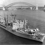 SUPPLY HMAS 1955-1987, outbound Sydney. SHF Coll.