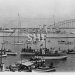 SUSSEX HMS, 1928-1950. County class, in Sydney 1938. SHF Col