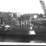 SWAN 1902, tug with tug BONDI 1913, in Rozelle Bay. SHF Coll