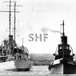 SWAN HMAS 1937. RAN WATTLE compass swinging. 1937. SHF Col.