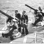 SYDNEY HMAS, 1935-1941.pos. Heavy AA machine guns. SHF Coll