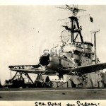 Sea Fury leaves HMAS SYDNEY,1956_GKAC_