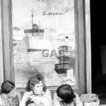 Ship Inn, poster and kids, 1974. Proof 164-18A.