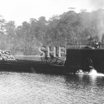Steam paddle drogher on Clyde River at Batemans Bay. SHF Col