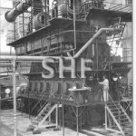 Sulzer diesel of 10,500bhp, at Melb. construction. SHF Coll.