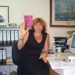 Sybil at her desk