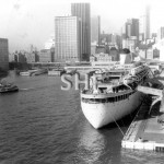 Sydney Cove with FAIRSTAR, March 1982. SHF Coll.