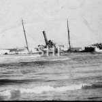 TOMKI 1882- wreck on Richmond Bar, Sept 14. 1907. postcard.