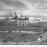 TOMKI 1882 wrecked Richmond Bar Sept 14, 1907. postcard. SHF
