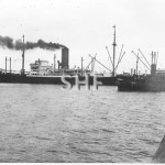 TOORONGA tug,1922-1965. With outbound ship, 1930s. SHF Coll.