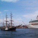 The old and the new JC and Legend of the seas