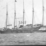 US schooner with load of timber. SHF Coll.