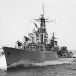 VAMPIRE HMAS, 1959, as built, trials. SHF Coll.