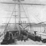 VERNON 1867, NSW training ship, note hammock racks. SHF Coll