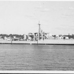 WARRAMUNGA HMAS, 1942-1963, in Farm Cove. SHF Coll.