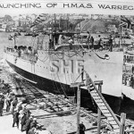 WARREGO HMAS, 1911-1928, launching. SHF Coll.