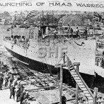 WARREGO HMAS, 1911-1928, launching_ SHF Coll_