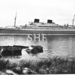 WILLEM RUYS 1948 later ACHILLE LAURO, 1965, sank 1994.postca